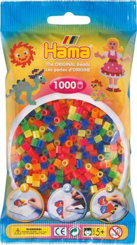 HAMA 207-51 Bügelperlen Midi - Neon Mix 1000 Perlen, ab 5 Jahren