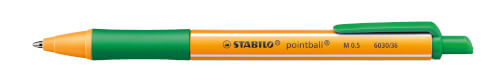 Druck-Kugelschreiber - STABILO pointball - Einzelstift - grün