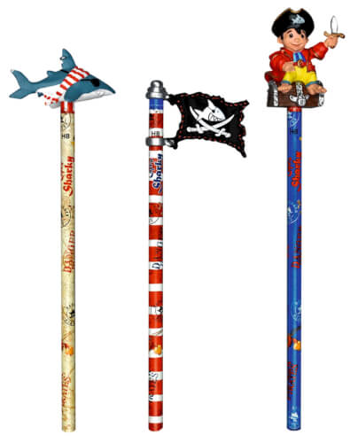 Die Spiegelburg - Bleistift mit Topper Capt'n Sharky