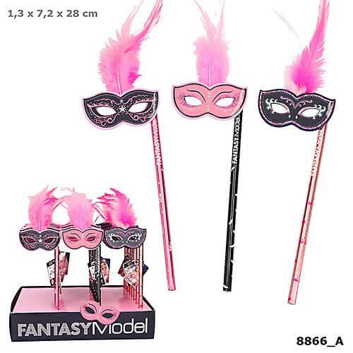 Depesche 8866 Fantasy Model Bleistift mit Maske und Fe