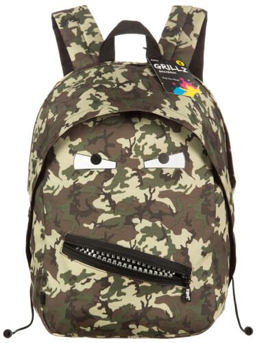 Zipit - Grillz Backpack - Camo Green