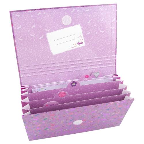 Depesche 8086 Horses Dreams Briefpapier in Fächermappe Motiv 2, Pink