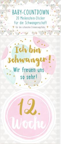 Meilenstein-Sticker Baby-Countdown (Schw