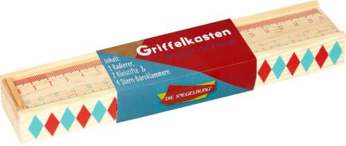 Die Spiegelburg - Griffelkasten Bunte Geschenke mit Utensilien, aus Holz