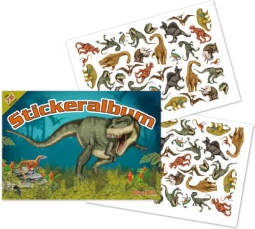 Stickeralbum Dinosaurier, ab 3 Jahren.