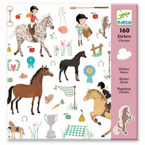 Stickerbögen: Pferde