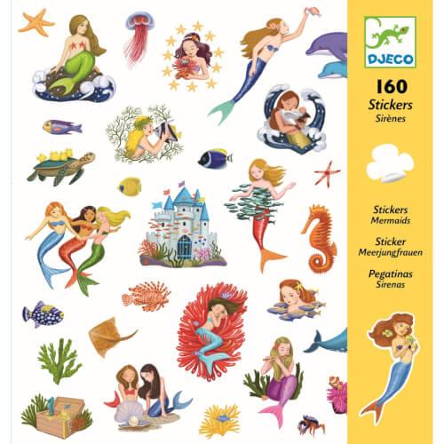 Stickerbögen: Meerjungfrauen