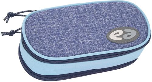 Etui Box YZEA BOX mit Zirkelfach CASUAL grau/dunkelblau