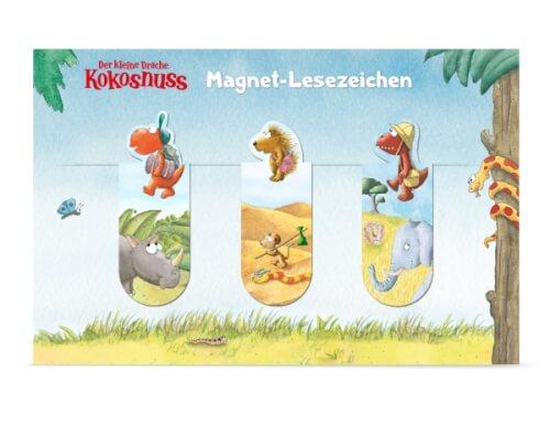Der kleine Drache Kokosnuss - Magnet-Lesezeichen, 3er Set, ab 3 Jahren