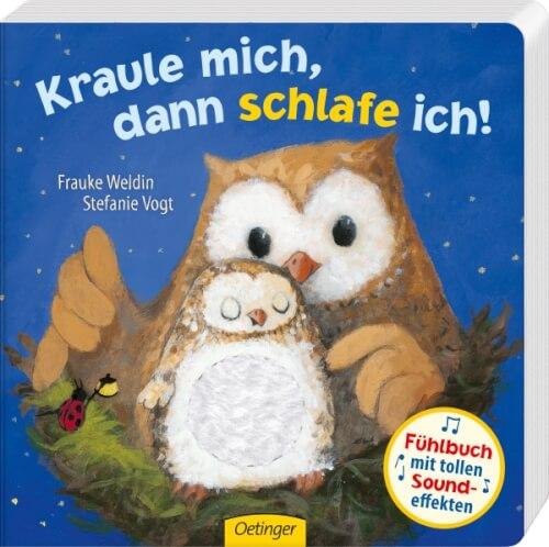 Kraule mich, dann schlafe ich!, Fühlbuch, 12 Seiten, ab 12 Monaten