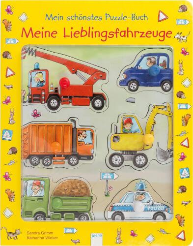 Arena - Meine Lieblingsfahrzeuge. Mein schönstes Puzzle-Buch, Pappbilderbuch, 10 Seiten, ab 24 Monaten - 2 Jahren.Grimm, Sandra/