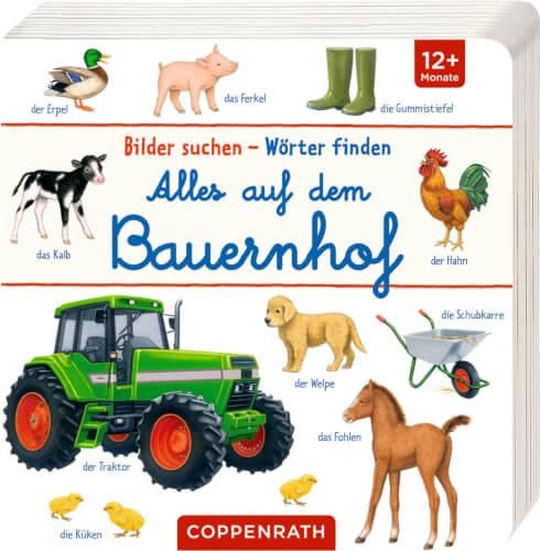 Bilder suchen - Wörter finden: Alles auf dem Bauernhof, Pappbilderbuch, ab 1 Jahr, 18 Seiten