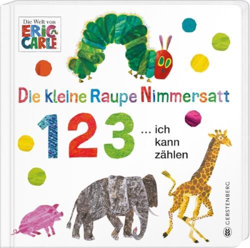 Pappbilderbuch ''Raupe Nimmersatt 1 2 3 ich kann zählen''