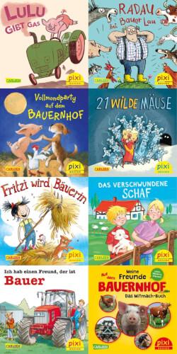 Pixi Box (Serie) - Nr. 253: Pixis Abenteuer auf dem Bauernhof, Taschenbuch, jew. 24 Seiten, ab 3 Jahre