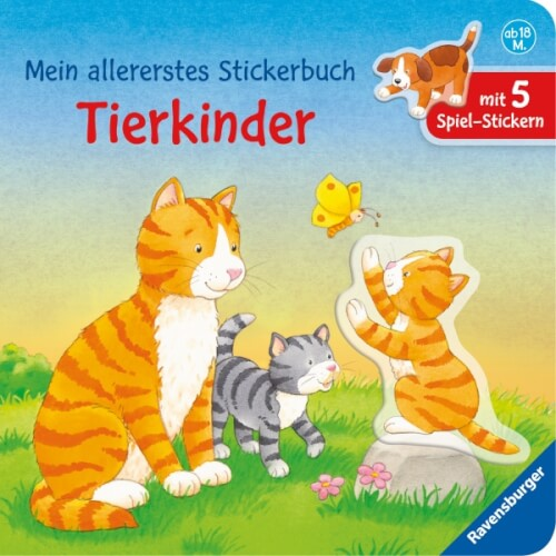 Ravensburger 026517 Mein allererstes Stickerbuch: Tierkinder