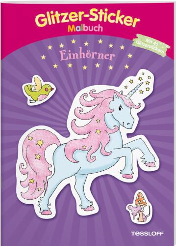 Tessloff Glitzer-Sticker-Malbuch Einhörner