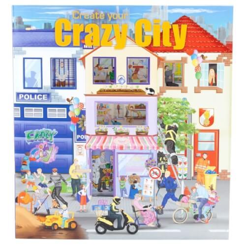 Depesche 6519 Create your Crazy City Malbuch  mit Stickern