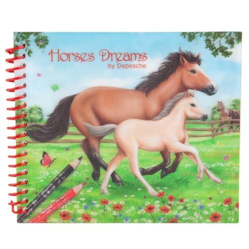 Depesche 8087 Horses Dreams Pocket Malbuch