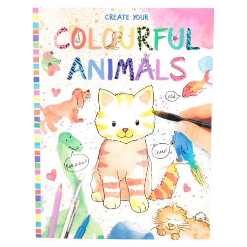 Depesche 8916 Create your Colourful Animals  Malbuch