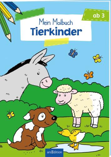 Malbuch ab 3 - Tierkinder