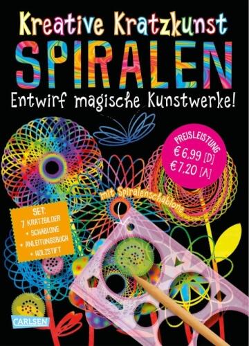 Kreative Kratzkunst: Spiralen: Set mit 7 Kratztafeln, Spirograph, Anleitungsbuch und Holzstift, Taschenbuch, 16 Seiten, ab 5 Jah