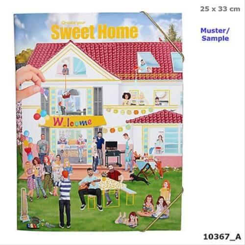 Depesche 10367 Create your Sweet Home - Malbuch mit Stickern