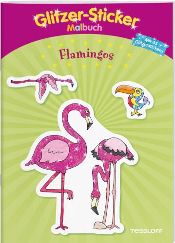 Tessloff Glitzer-Sticker-Malbuch. Flamingos