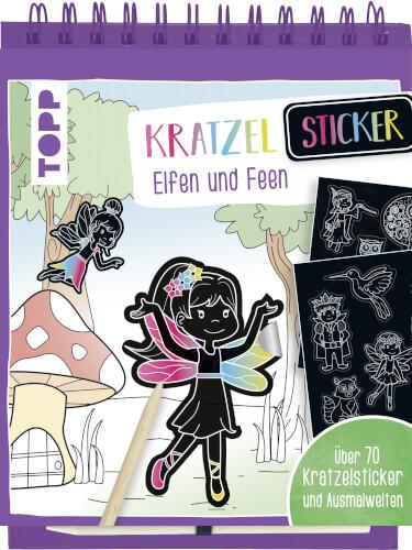Kratzel-Stickerbuch Elfen