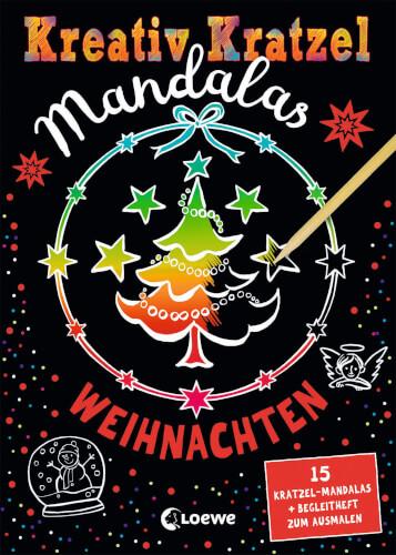 Loewe Kreativ-Kratzel Mandalas - Weihnachten