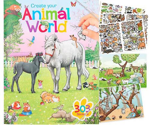 Create Your Animal World Malbuch mit Sti