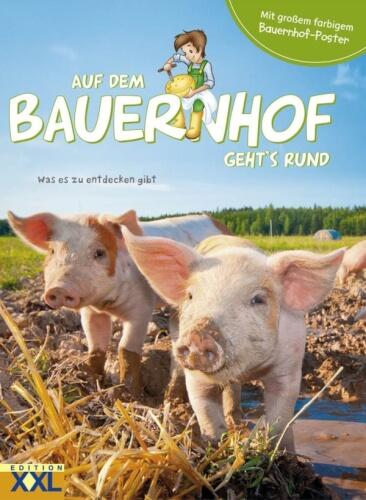 Auf dem Bauernhof gehts rund mit Poster
