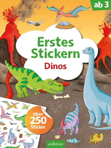 Erstes Stickern Dinos