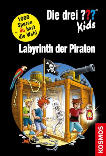 KOSMOS Die drei ??? Kids und du - Labyrinth der Piraten, ab 8 Jahre