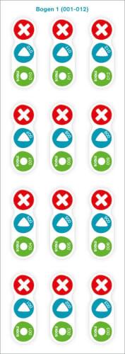 Tessloff 120 BOOKii® Aufnahme-Sticker neutral Paket 1, Nr. 001-120