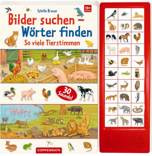 Bilder suchen-Wörter finden: So viele Tierstimmen (Soundbuch)