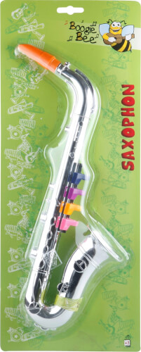 Boogie Bee Saxophon silber, Länge ca. 36 cm, Kinderinstrument, ab 3 Jahren