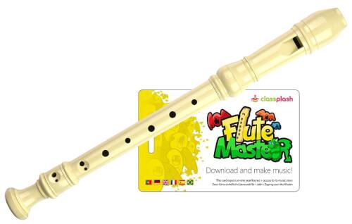 Flute Master (App) mit Blockflöte aus Kunststoff (dt. GW)