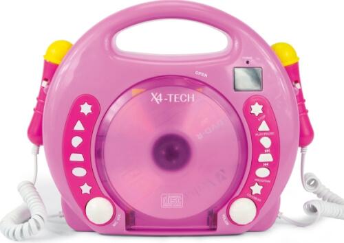 Karaoke CD Player MP3 2 Mikrofone girl/pink