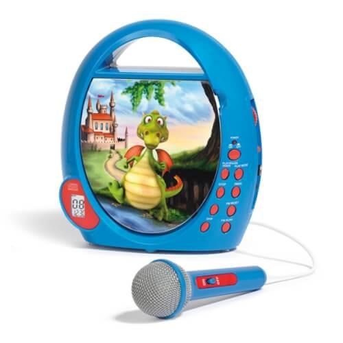 CD-Player und Radio Drache für Kinder, blau