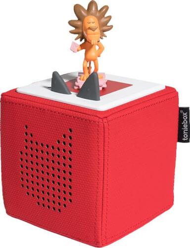 Tonies® Starterset - Toniebox Rot mit Löwe - Die Geschicht vom Löwen, der nich