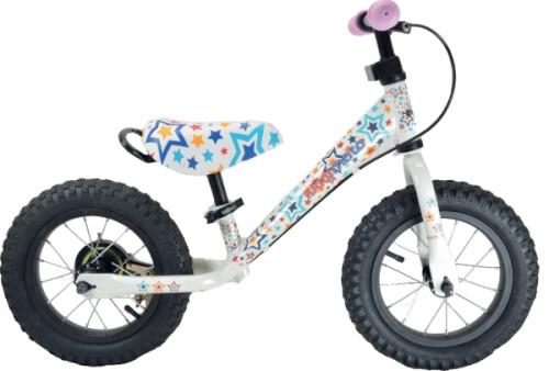 kiddimoto® Metall Laufrad mit Bremse SJM Stars