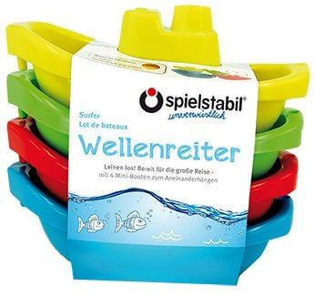 Spielstabil Wellenreiter Minibootset 4er-Set