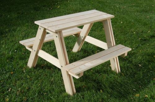 Holz Kindersitzgarnitur natur