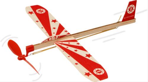 Segelflieger mit Gummimotor Bunte Gesche