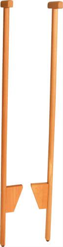 SpielMaus Outdoor Stelzen Holz mit Stütze, Länge 120 cm