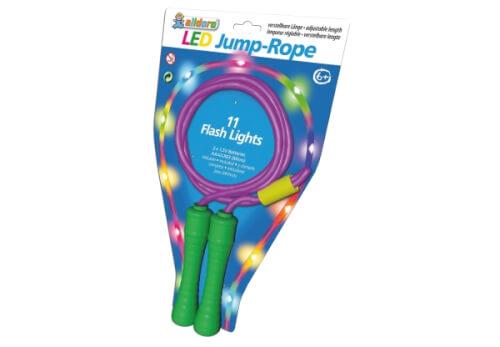 LED Springseil, pink oder grün mit bunten LEDs, ab 6 Jahren
