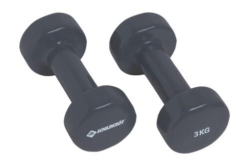 Schildkröt Fitness - VINYL HANTEL Set, 2x 3,0kg (grey), in Colourbox