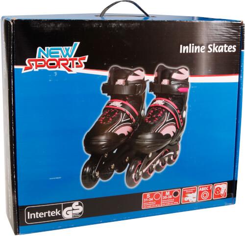 New Sports Inliner Pink, ABEC 7, Größe 35 - 38