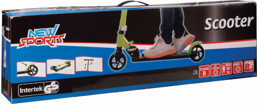 New Sports Scooter Grün/Schwarz, 125 mm, ABEC 7