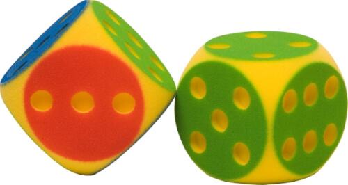 TOGU Soft-Partywürfel farblich sortiert ca. 16 cm